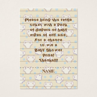Baby Shower Raffle Ticket/Blue/Build A Library