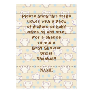 Baby Shower Raffle Ticket/Blue/Build A Library Pack Of Chubby Business Cards