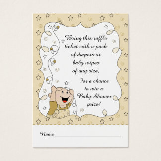 Baby Shower Raffle Ticket/Gold Stars Baby Business Card