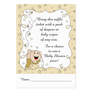 Baby Shower Raffle Ticket/Gold Stars Baby Pack Of Chubby Business Cards