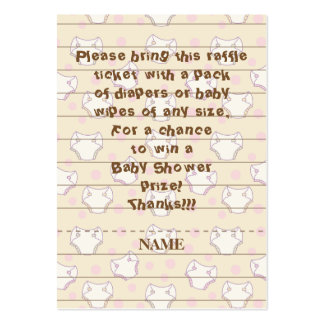 Baby Shower Raffle Ticket/Pink/Build A Library Pack Of Chubby Business Cards