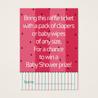 Baby Shower Raffle Ticket/Umbrella Watermelon Business Card