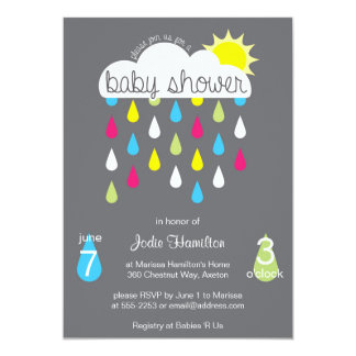 Baby Shower Rain Cloud Invitation