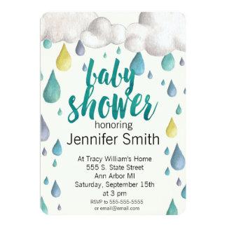 Baby Shower Rain Sprinkle Invitation