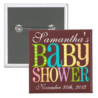 Baby Shower (Rainbow) Pinback Button