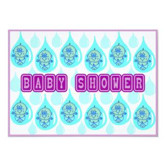 Baby Shower - Raining Babies Custom Announcement