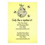 Baby Shower Registry Card Bee Theme Business Cards