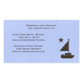 Baby Shower Registry Card Pack Of Standard Business Cards