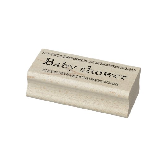 Baby shower rubber stamp