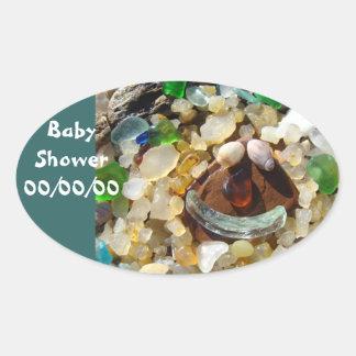 Baby Shower Save the Date sticker seals Invitation