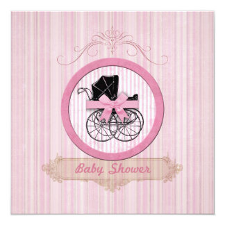 Baby Shower Shabby Chic Pink Invitation