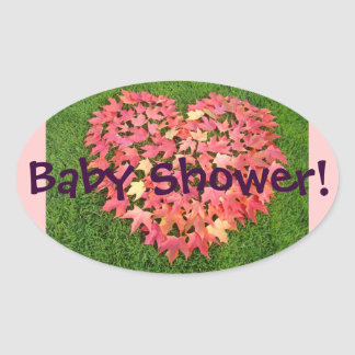 Baby Shower sticker seals Cards Invitations Heart