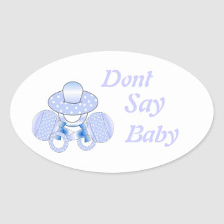 Baby Shower Stickers.Dont Say Baby,