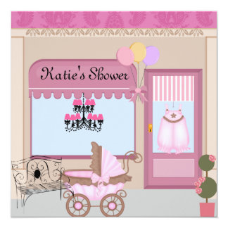 Baby Shower STORE Invitation for Girl
