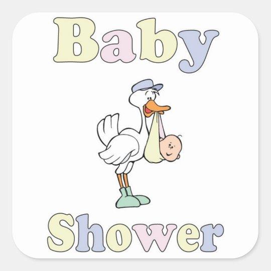 baby shower stork sticker