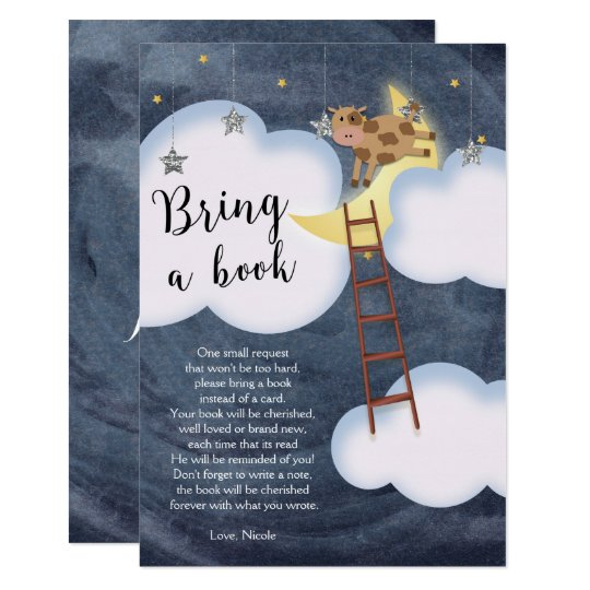 Baby Shower Storybook Nursery Rhyme Book Request Card
