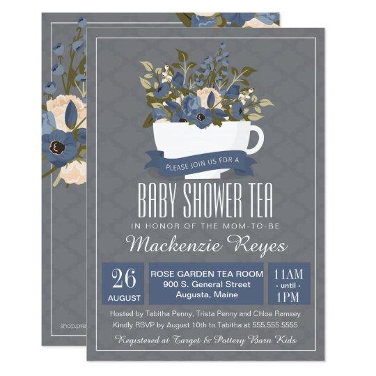Baby Shower Tea Invitation, Birthday or Sip &