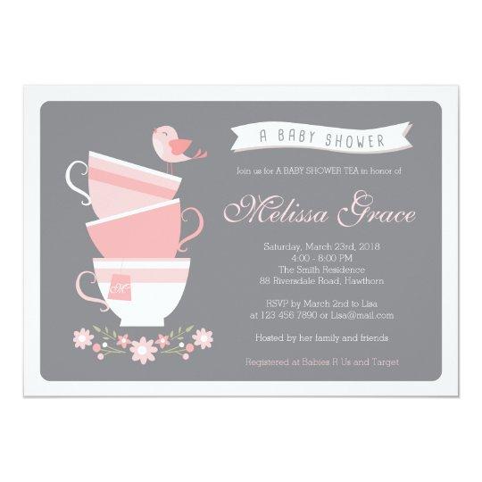 baby shower tea invitation / high tea baby