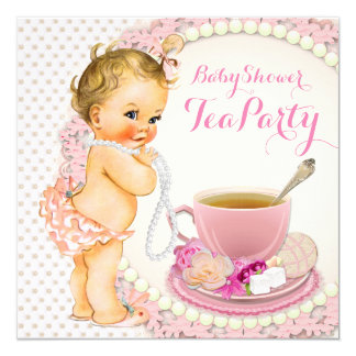 Baby Shower Tea Party Card