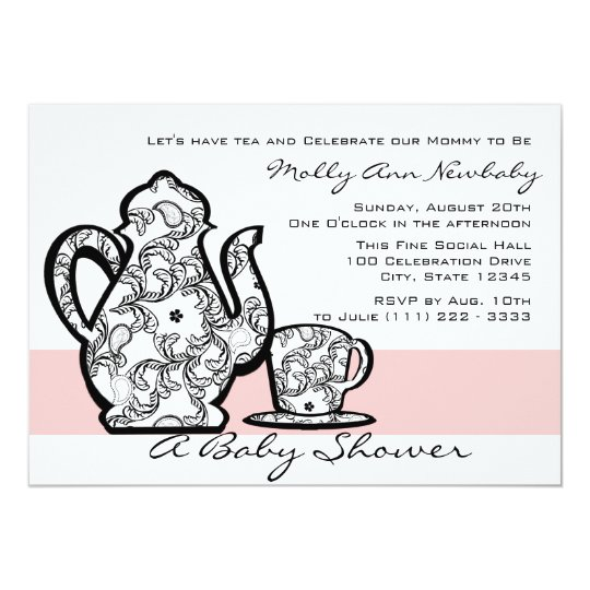 Baby Shower Tea with Changeable Colour Card