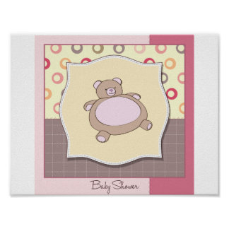 Baby Shower Teddy Bear Poster