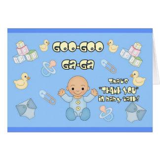 Baby shower Thank you card goo goo ga ga