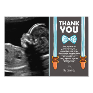 Baby Shower Thank You Card Little Man Echo