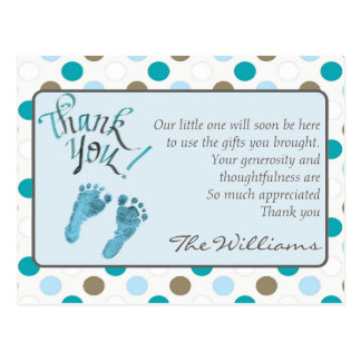 Baby Shower Thank You Card Post Card