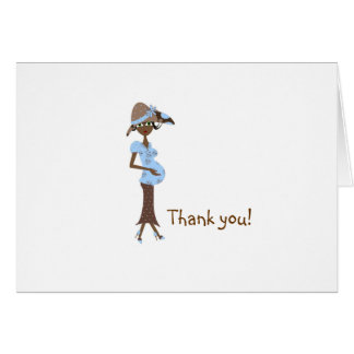 Baby Shower Thank You -Chic Mom Greeting Card