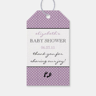 Baby Shower Thank You Lavender Purple Modern Gift Tags