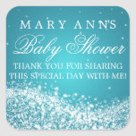 Baby Shower Thank you Sparkling Wave Turquoise