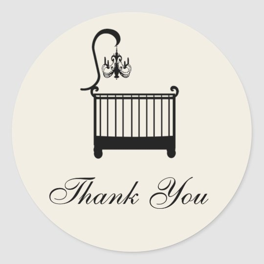 Baby Shower Thank You Sticker