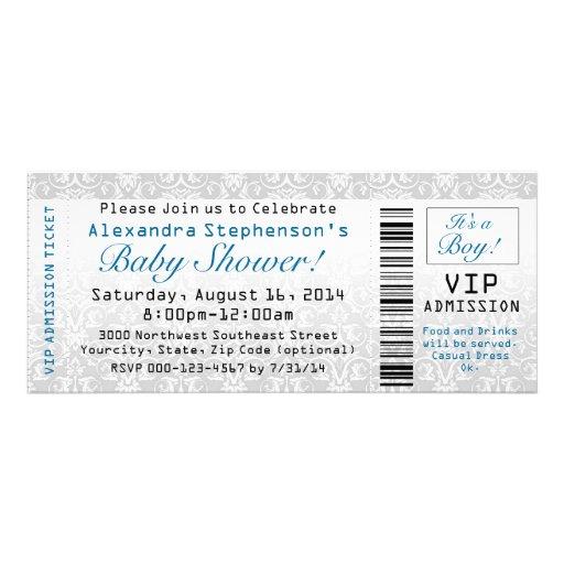 Baby Shower Ticket Invitations, Boy