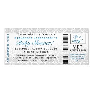 Baby Shower Ticket Invitations, Boy 10 Cm X 24 Cm Invitation Card