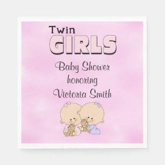 Baby Shower Twin Girls Paper Napkin