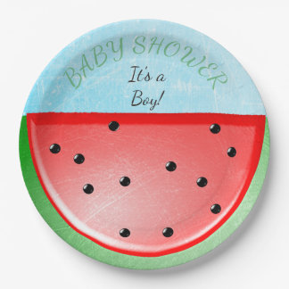 Baby Shower Watermelon Plates