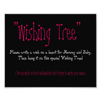 Baby Shower Wishing Tree Photo