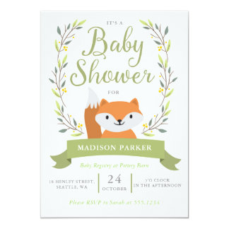 Baby Shower Woodland Fox Invitation