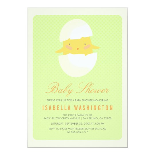 Baby Shower | Yellow Baby Chick Hatching From