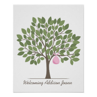 Baby Signature Tree - Large Poster
