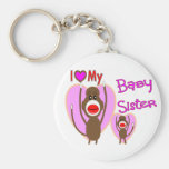 "Baby Sister ""I Love My Baby Sister"" gifts Key Chain"
