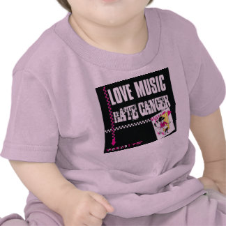 Baby Sized Love Music Hate Cancer Tees