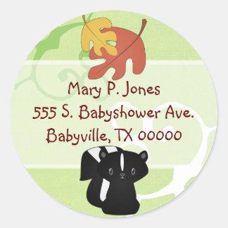 Baby Skunk Address Label Stickers