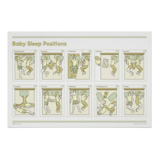 Baby Sleep Positions Poster