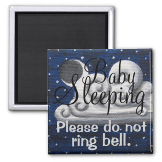 Baby Sleeping cloudy night front door magnet