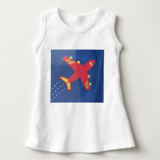 Baby Sleeveless Dress Cuteness  Aeroplane Aircraft