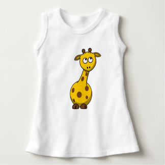 Baby Sleeveless Dress - giraffe