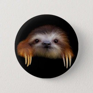 Baby Sloth 6 Cm Round Badge