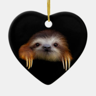 Baby Sloth Christmas Ornament