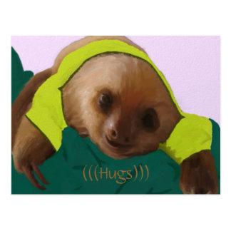 Baby Sloth in Pajamas Postcard